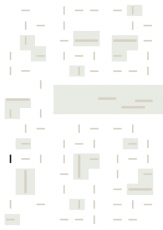 Oversigtskort for teglparken med markering af konstruktionen: RT 444.Rustica Rød/Brun