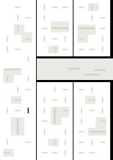 Oversigtskort for teglparken med markering af konstruktionen: RT 454.Rustica Giallo
