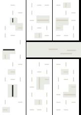 Oversigtskort for teglparken med markering af konstruktionen: RT 510.Unika Blådæmpet