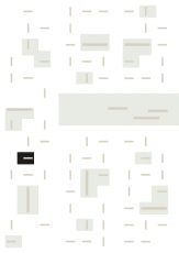 Oversigtskort for teglparken med markering af konstruktionen: RT 60.Rød Belægningsklinke