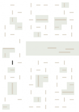 Oversigtskort for teglparken med markering af konstruktionen: RT 602.Innova Sort rustik med gråt spil