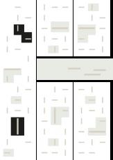Oversigtskort for teglparken med markering af konstruktionen: RT 61.Rød Belægningsklinke med spil