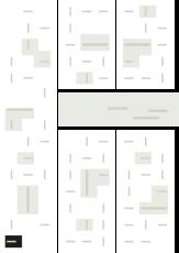 Oversigtskort for teglparken med markering af konstruktionen: RT 62.Gul Belægningsklinke