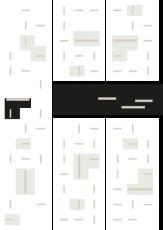 Oversigtskort for teglparken med markering af konstruktionen: RT 64.Sort Belægningsklinke