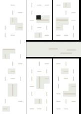 Oversigtskort for teglparken med markering af konstruktionen: Forresta