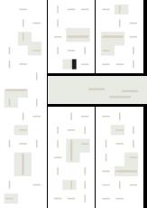 Oversigtskort for teglparken med markering af konstruktionen: Varia pur