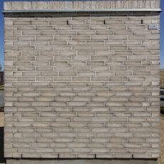 Konstruktion bygget af Egernsund tegl's: 2.1.65.Antibes, fuge: hvid/LysegrÅ