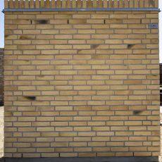 Konstruktion bygget af Egernsund tegl's: 2.1.51.Golden Coal, fuge: LysegrÅ
