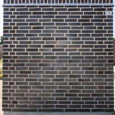 Konstruktion bygget af Egernsund tegl's: 3.4.78.Black Beauty, fuge: LysegrÅ/antracit