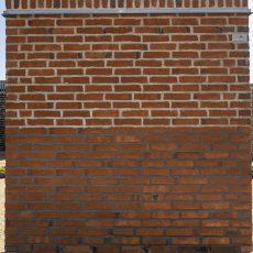 Konstruktion bygget af Egernsund tegl's: 3.2.40.Rød m/spil, fuge: LysegrÅ/antracit