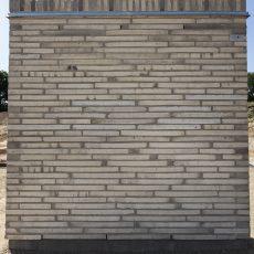 Konstruktion bygget af Egernsund tegl's: 2.7.38.Tegula Grå, fuge: LysegrÅ