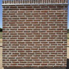 Konstruktion bygget af Randers Tegl's: RT 444.Rustica Rød/Brun, fuge: lysegrÅ