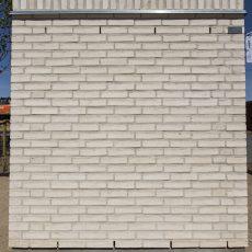 Konstruktion bygget af Randers Tegl's: RT 102.Prima Lucca, fuge: hvid