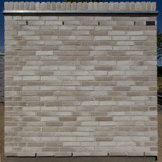 Konstruktion bygget af Randers Tegl's: RT 554.Unika Eos, fuge: hvid