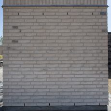 Konstruktion bygget af Randers Tegl's: RT 103.Prima Bologna, fuge: hvid