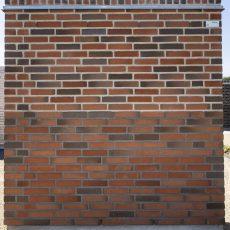 Konstruktion bygget af Strøjer tegl's: B224.Kingwood, fuge: LysegrÅ/Antracit