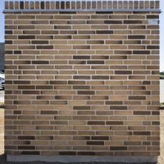 Konstruktion bygget af Strøjer tegl's: B434.Moskus, fuge: Hvid/LysegrÅ