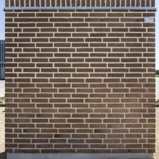 Konstruktion bygget af Strøjer tegl's: B430.Bison, fuge: Hvid/LysegrÅ