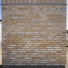 Konstruktion bygget af Strøjer tegl's: B813.Setta Miste, fuge: Hvid/LysegrÅ