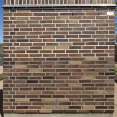 Konstruktion bygget af Strøjer tegl's: B841.Mista, fuge: Hvid/LysegrÅ