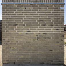 Konstruktion bygget af Strøjer tegl's: B704.Silver Shadow, fuge: Hvid/LysegrÅ