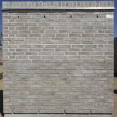 Konstruktion bygget af Strøjer tegl's: B713.Silver Falcon, fuge: Hvid/LysegrÅ