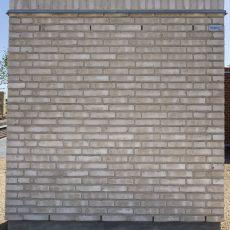Konstruktion bygget af Wienerberger's: W 109.Hvid Marmor, fuge: hvid