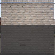 Konstruktion bygget af Egernsund tegl's: 2.1.63.Cassis, fuge: LysegrÅ