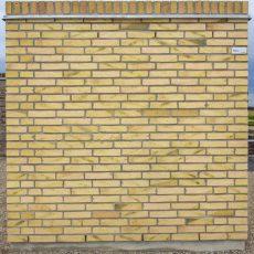 Konstruktion bygget af Wienerberger's: W 491.Magma, fuge: lysegrÅ